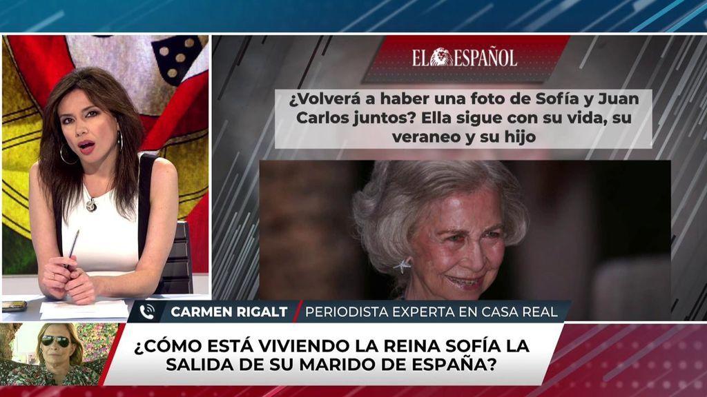 Carmen Rigalt habla del rey emérito y Doña Sofía
