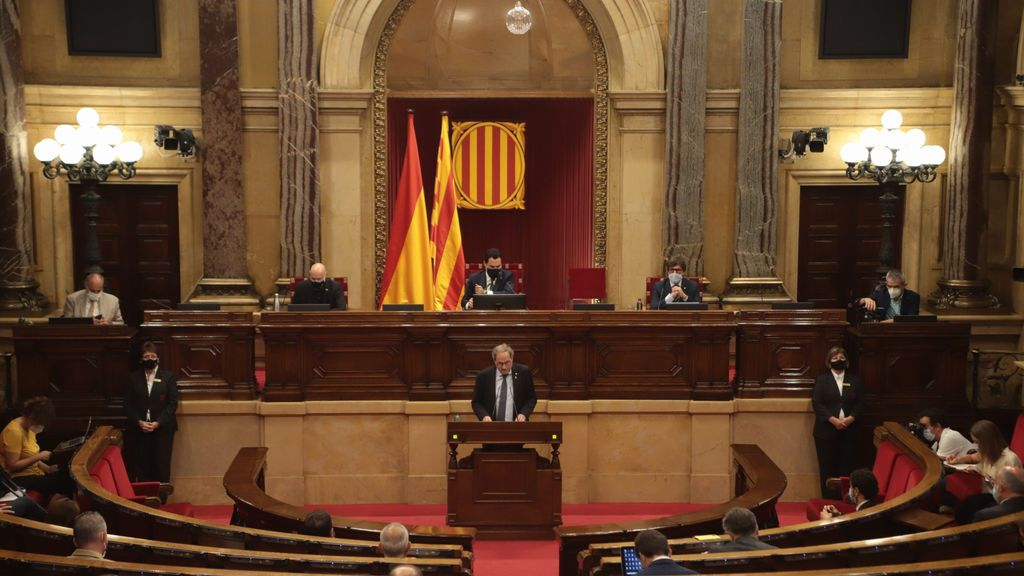"""Torra en el pleno del Parlament sobre la Monarquía: """"no puedo entender que el Gobierno encubra la fuga"""""""