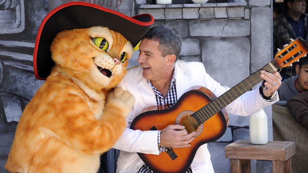 Antonio Banderas en la premiere de 'El gato con botas' en Los Ángeles, año 2011