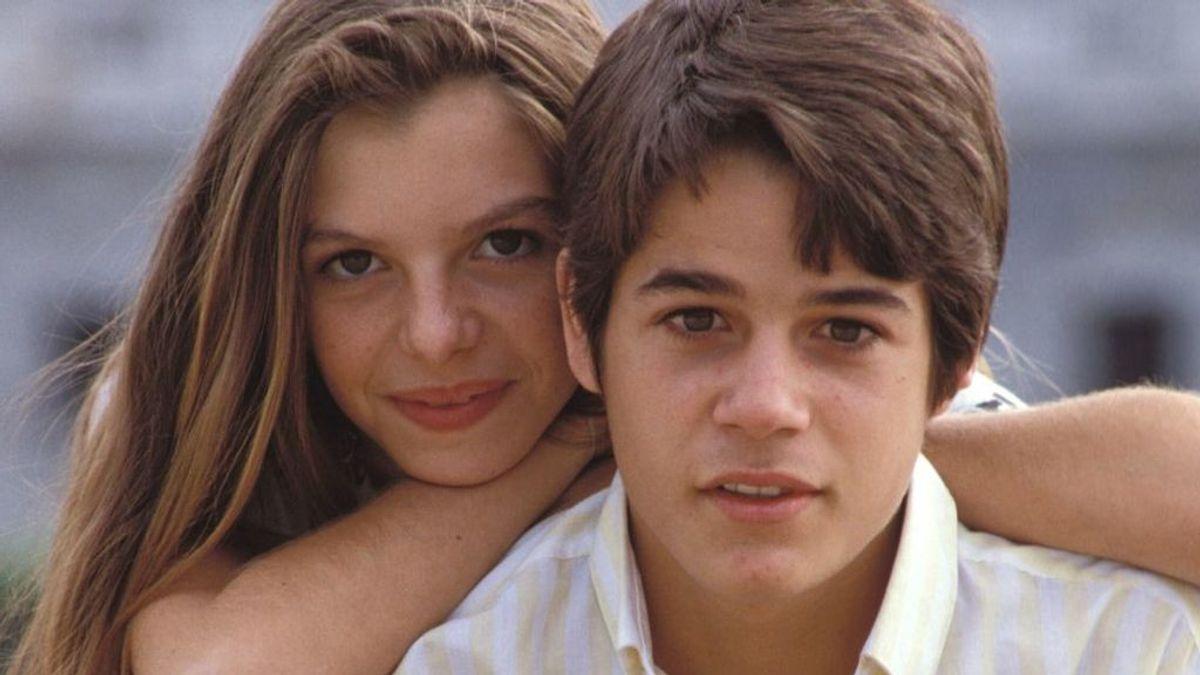 Los actores Paloma Gómez y Jorge Sanz en un fotograma de 'Valentina', más tarde fueron pareja