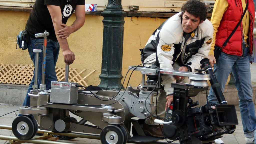 Rodaje en Barcelona de la película 'The way of the English', dirigida por Banderas en 2006