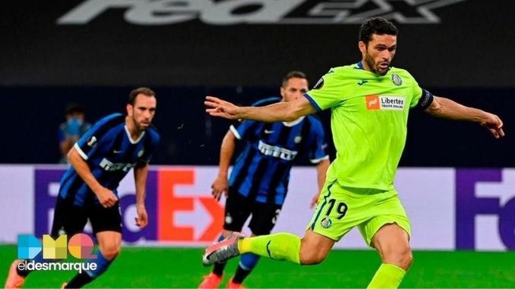 El penalti de Jorge Molina en el Inter-Getafe