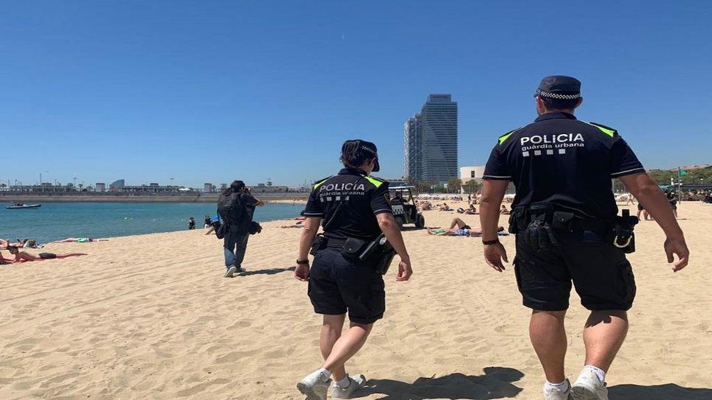 Contagiados varios agentes del grupo de playas de la Guardia Urbana de Barcelona