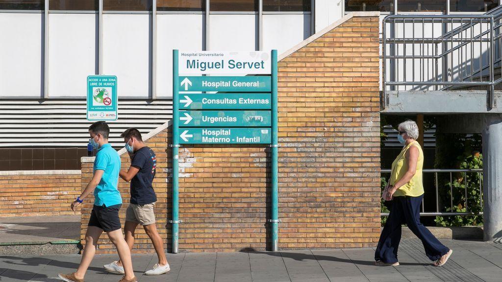 Aragón notifica el triple de casos y la mitad de ingresos desde marzo