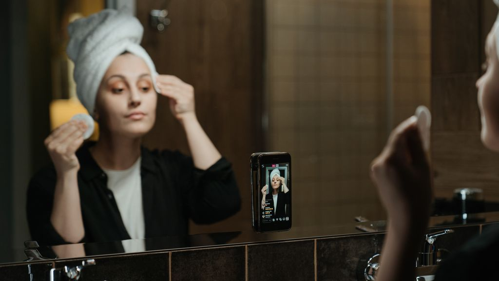Grabando directo de maquillaje