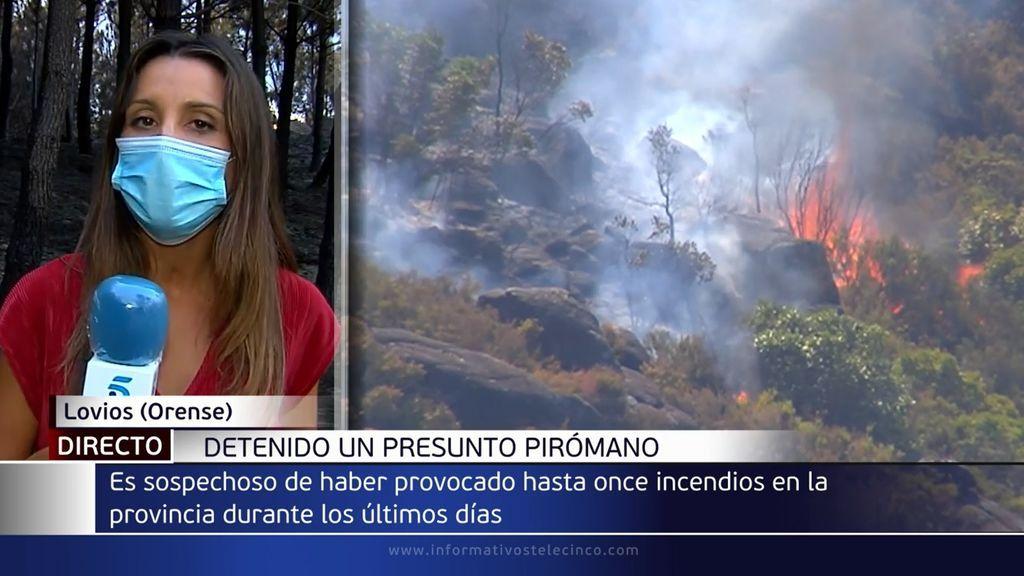 Detienen a un hombre en Orense acusado de provocar 11 incendios durante las últimas semanas