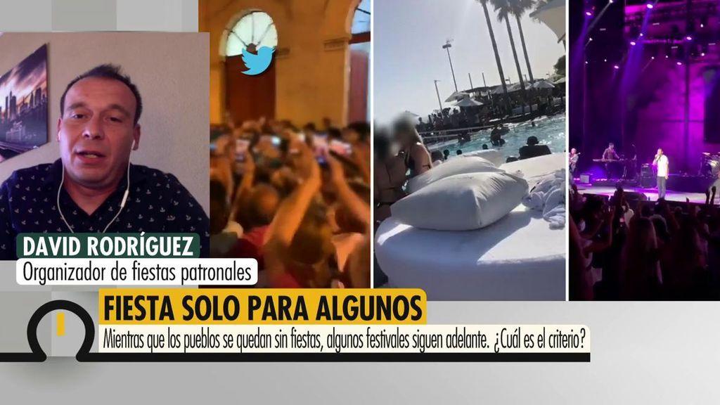 """David Rodríguez, organizador de fiestas patronales: """"Están dejado en la estacada a 300.000 trabajadores"""""""