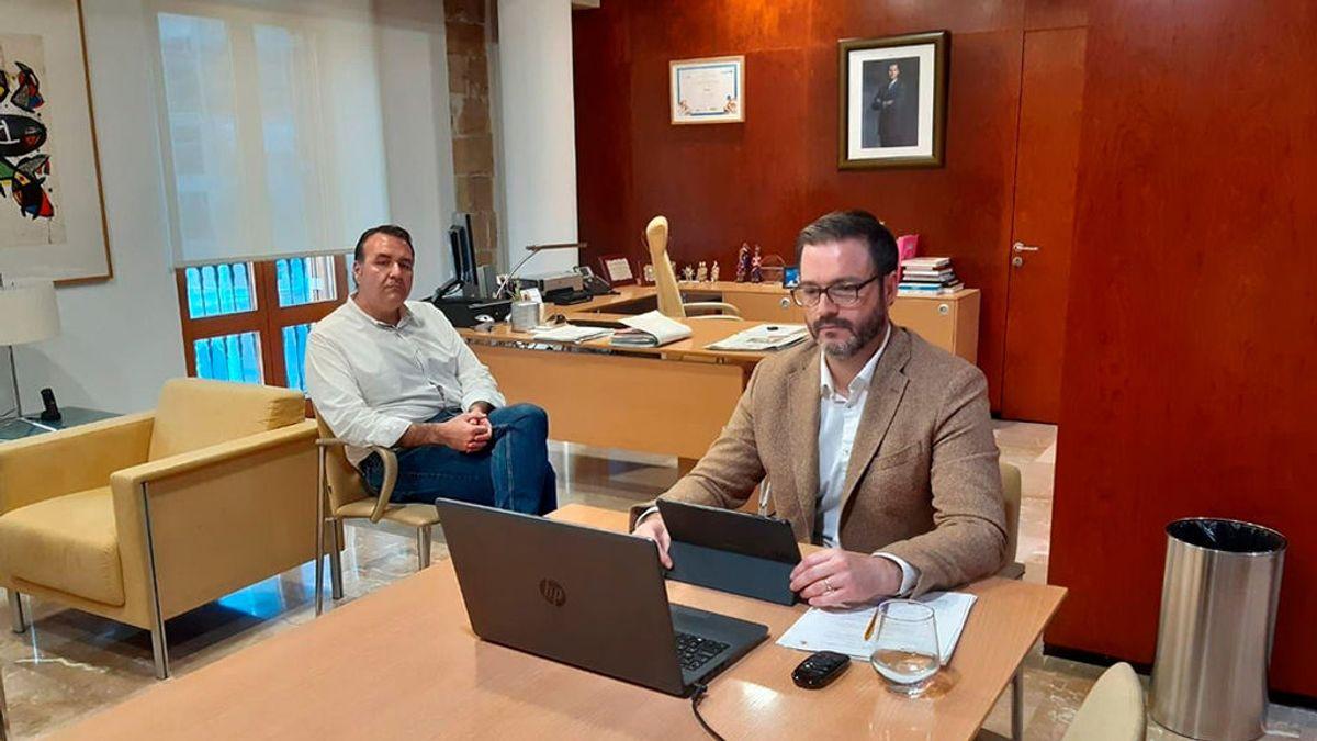 El alcalde de Palma, José Hila, no acude a la audiencia con el rey Felipe VI por estar en aislamiento preventivo