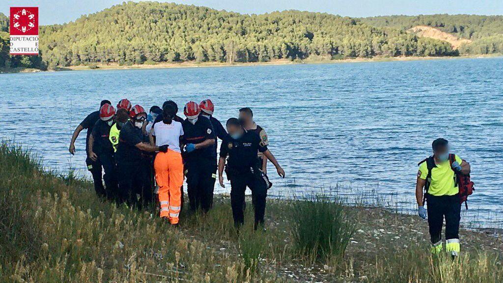 Imágenes del rescate en el pantano de Sitjar (Castellón).