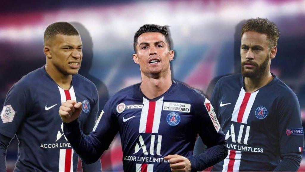 Cristiano Ronaldo formaría un tridente que asusta con Neymar y Mbappé.