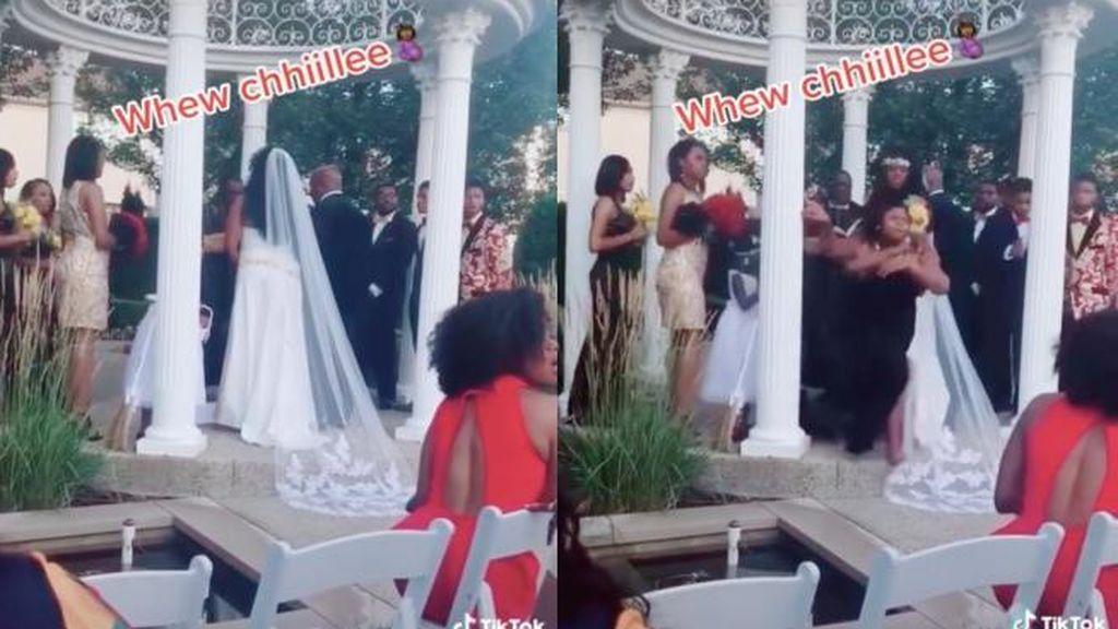 Una mujer irrumpe en la boda de su amante para anunciar su embarazo