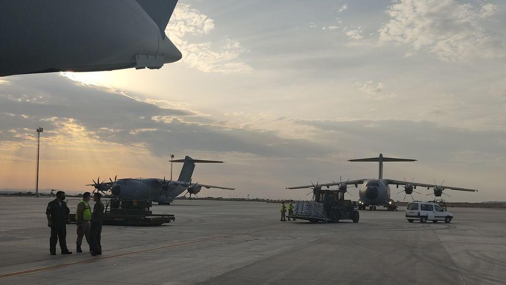 Despega de Zaragoza un avión del Ejército del Aire cargado de ayuda de emergencia para Líbano