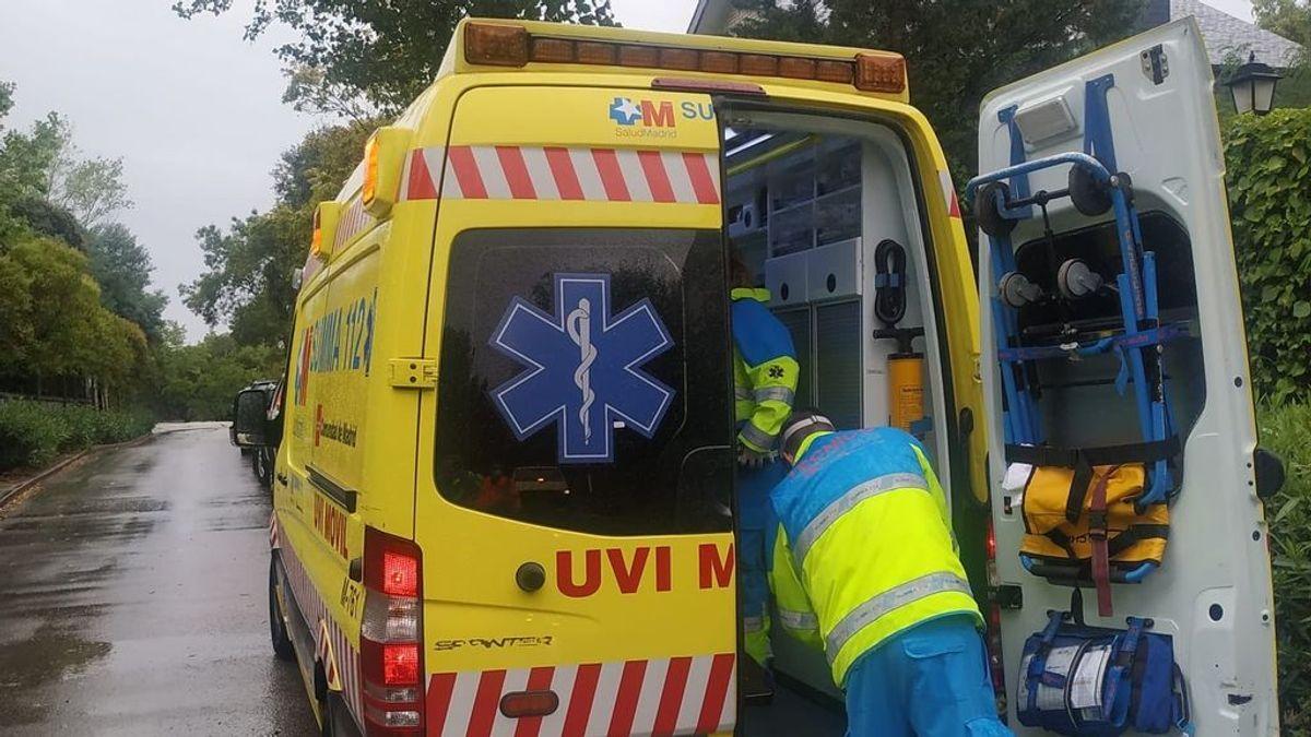 Un hombre resulta herido al caerle un rayo en el jardín de su casa de Torrelodones en Madrid