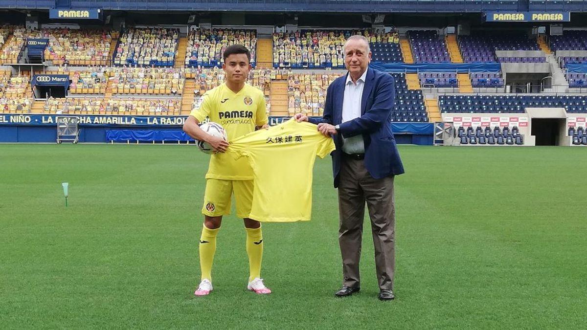 Take Kubo, en la presentación con el Villarreal.