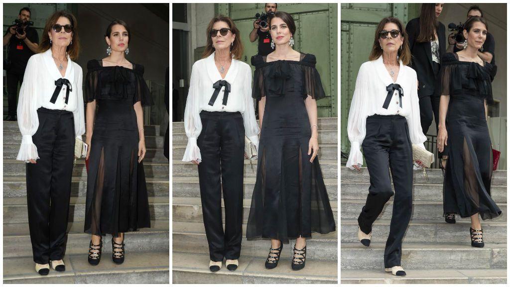 Karl Lagerfeld era uno de los diseñadores de cabecera de Carlota y su madre, Carolina.