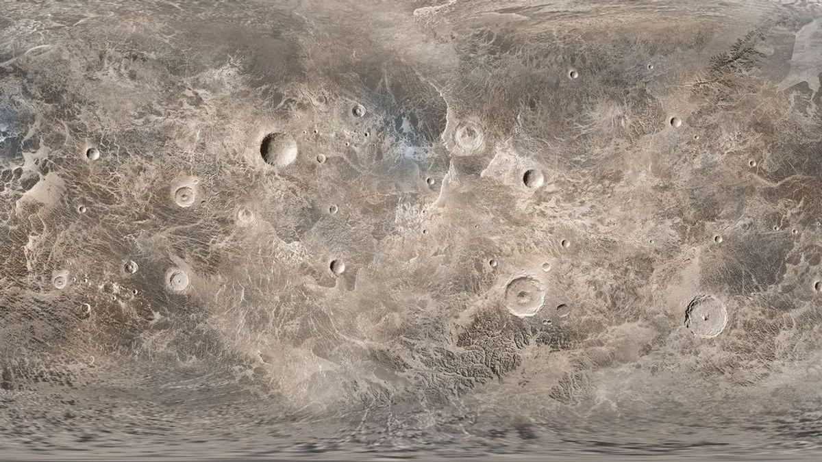 Corteza de Ceres, el planeta enano que podría albergar vida.