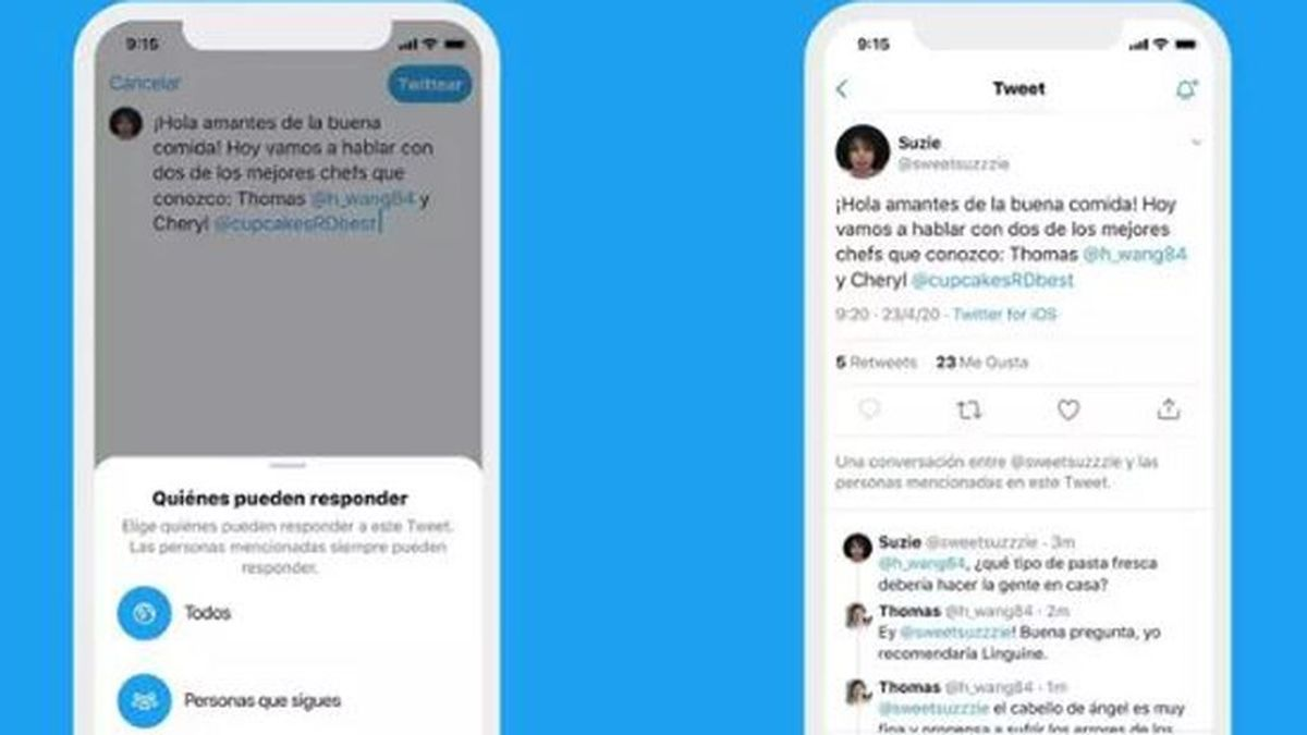 Twitter te permitirá elegir quién puede responder  una conversación