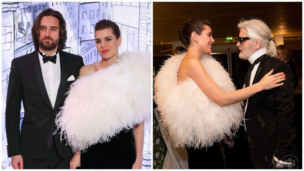 Para el Baile de la Rosa de 2018 se decantó por un vestido negro con plumas.
