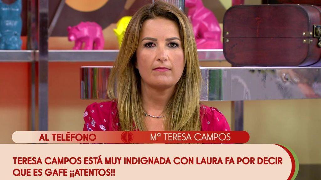 """Teresa Campos aclara si hará una película con Santiago Segura y se enfada con Laura Fa: """"No quiero calificarla para que no me salga una palabra fea"""""""