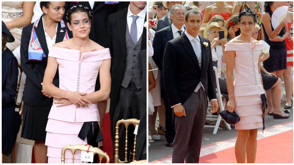 Para la boda de su tío Alberto se decantó por un vestido firmado por Chanel.