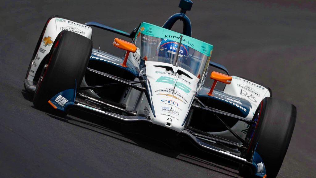 Fernando Alonso, en los entrenamientos.