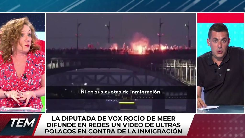 """El mensaje de Cristina Fallarás a la diputada de Vox Rocío de Meer: """"Quien reproduce contenido neonazi es neonazi"""""""