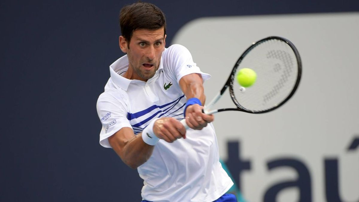 Novak Djokovic, durante un partido.