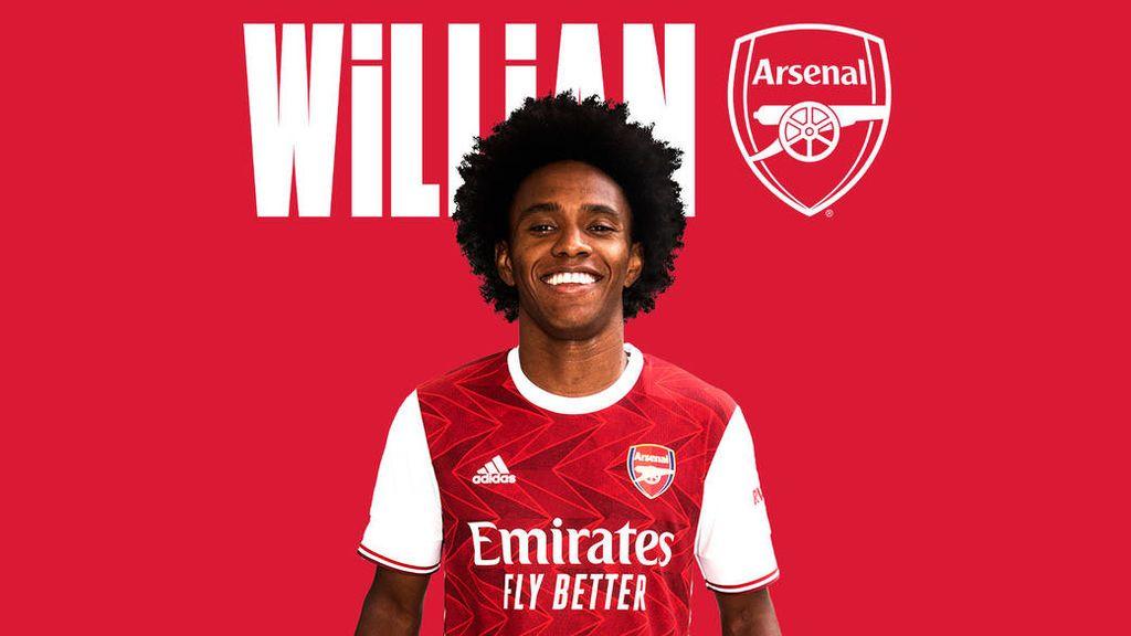 Willian, en su imagen de presentación con el Arsenal