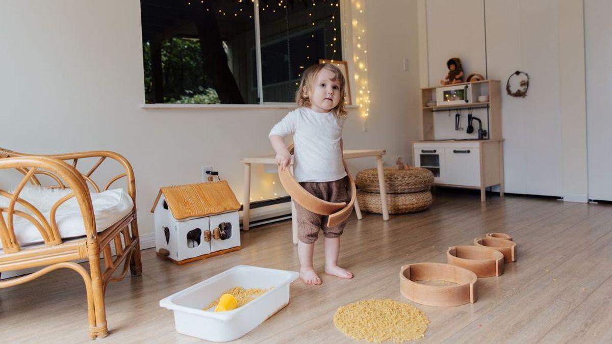 """El ambiente preparado del método Montessori se realiza """"a vista de niño""""."""