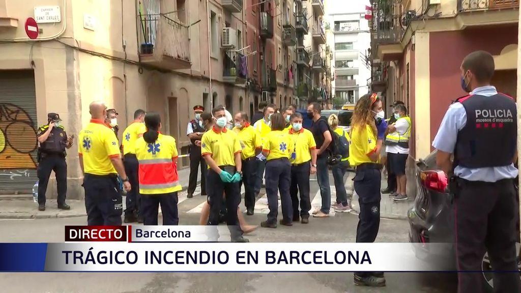 Incendio en la Barceloneta