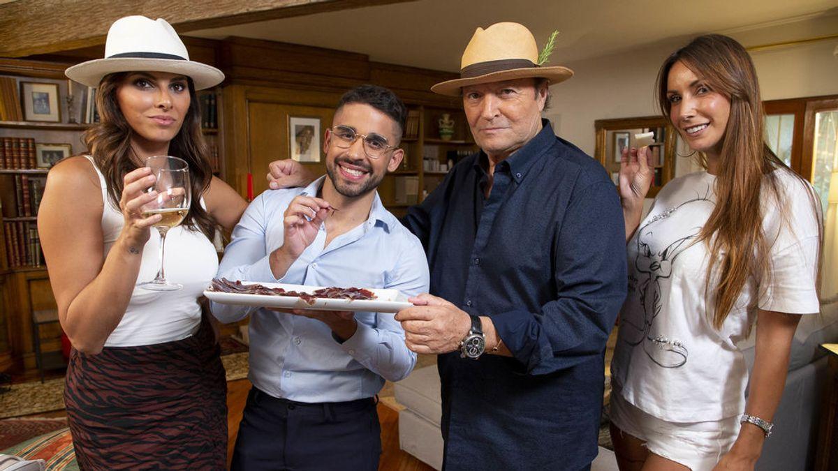 Irene Rosales, Miguel Frigenti, Amador Mohedano y Estefanía Carbajo en la nueva entrega de 'Ven a cenar conmigo: Gourmet Edition'