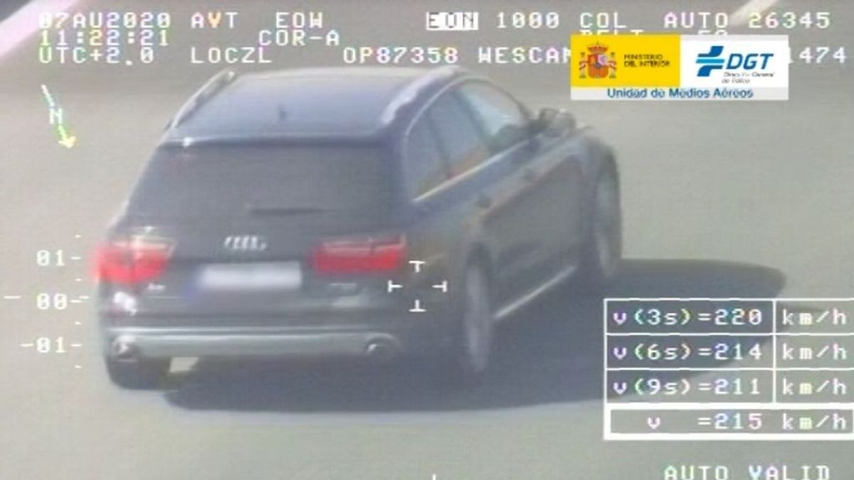 Detenido un conductor por ir a 215 km/hora en una autovía de Sevilla