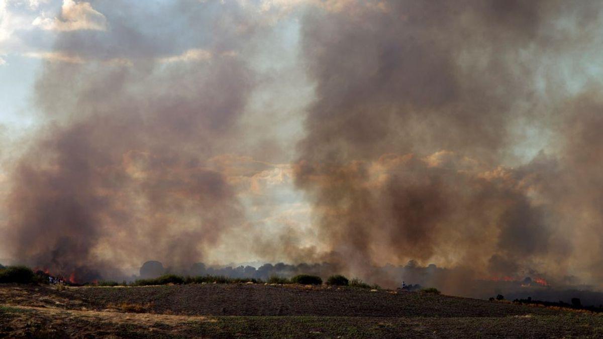 El incendio de Aliste en Zamora afecta ya a una superficie de 2.000 hectáreas