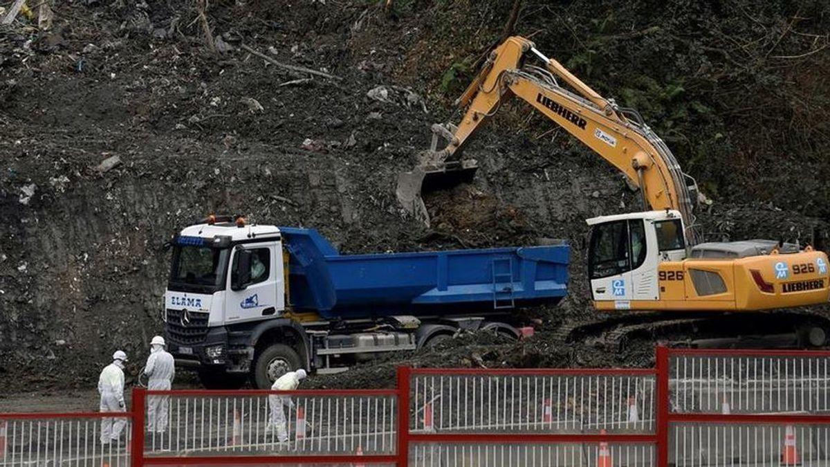 Encuentran restos óseos en el vertedero de Zaldibar: investigan si pertenecen a los desaparecidos del derrumbe