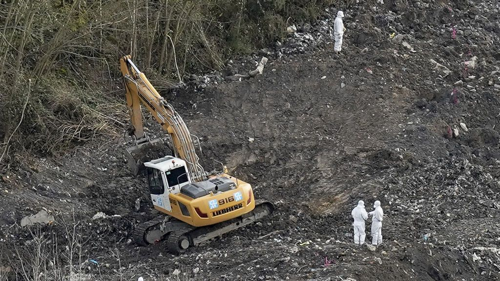 Hallan restos óseos en el vertedero de Zaldibar