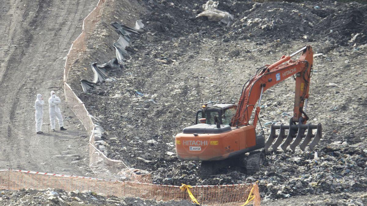 Hallan nuevos restos óseos en el vertedero de Zaldibar