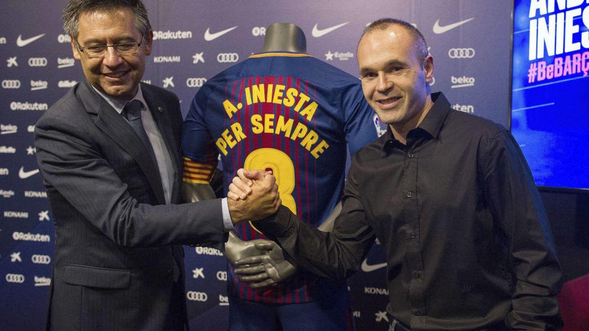 """El mensaje de Iniesta ante la crisis más grave del Barça en la última década: """"Siempre juntos"""""""