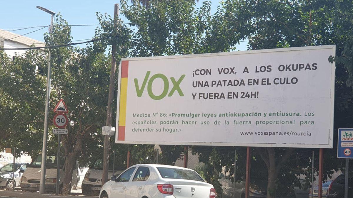 """""""Una patada en el culo y fuera en 24 horas"""", así te recibe VOX en la pedanía de Santa Cruz, Murcia"""