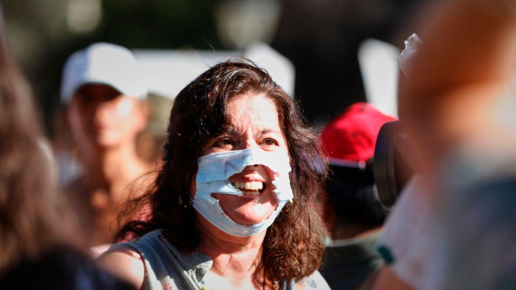 ¿Por qué se permitió la concentracion de los negacionistas anti mascarillas?