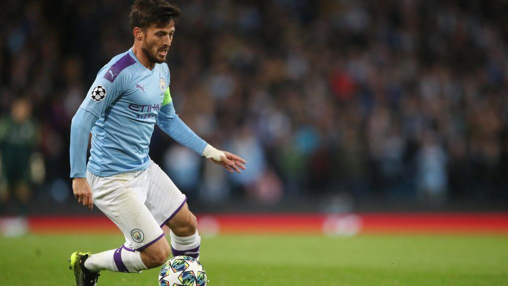 David Silva, en un partido con el Manchester City.