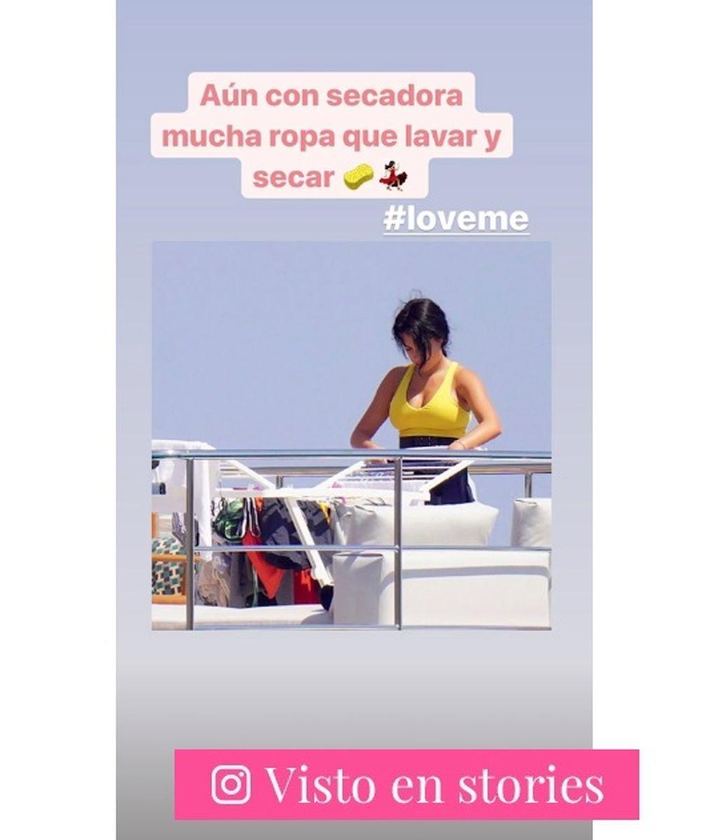 La imagen de Georgina Rodríguez tendiendo la ropa que se ha hecho viral