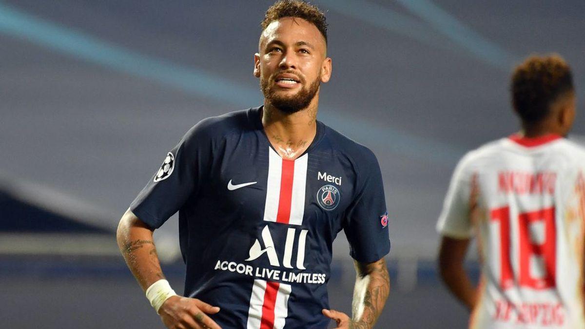 Neymar, durante las semifinales de Champions ante el Leipzig.
