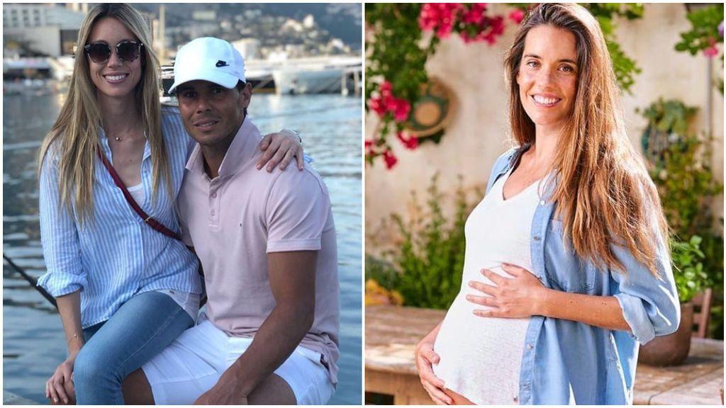 Rafa Nadal y su hermana, y Ona Carbonell, en redes sociales.