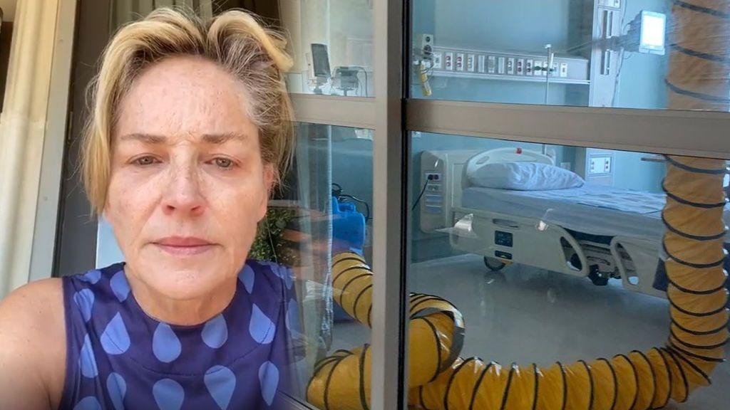 """""""No votéis a un asesino"""": el discurso de Sharon Stone contra Trump entre lágrimas y con su hermana en el hospital"""