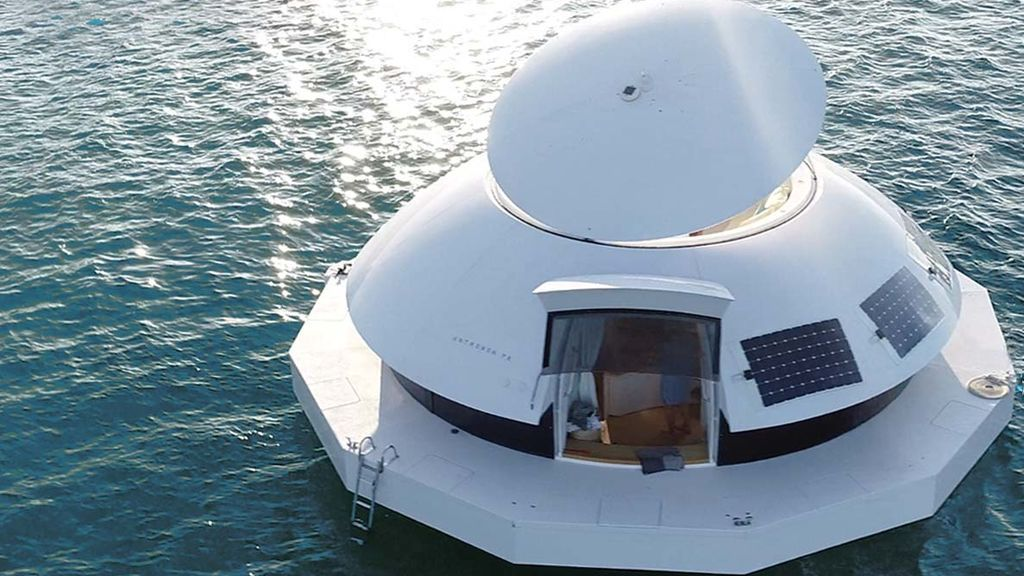Suite flotante y 100% ecológica, a todo lujo.