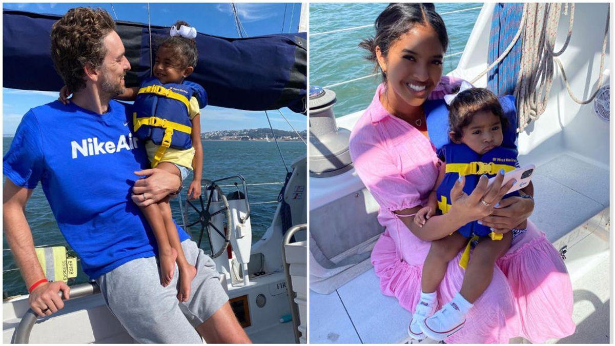 Pau Gasol, junto a una de las hijas de Kobe Bryant y Vanessa Bryant.