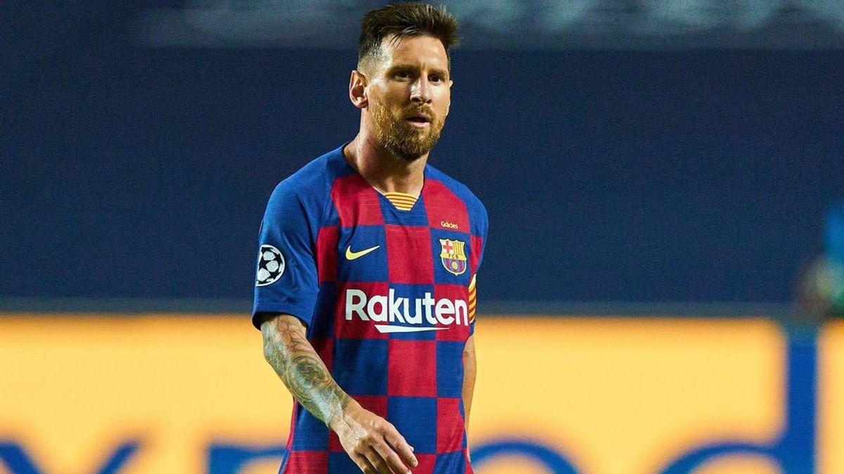 Leo Messi, en el partido ante el Bayern.
