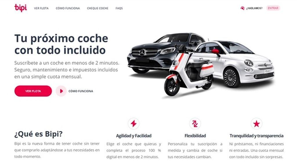 Portal web de coches por suscripción BIPI