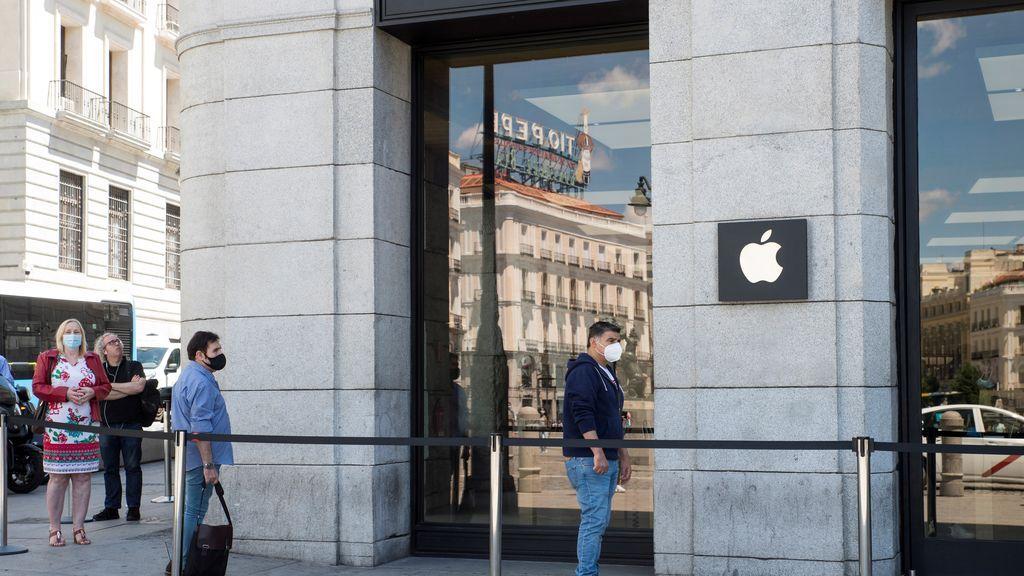 Apple cerrará sus cuatro tiendas de Madrid a partir del lunes por el aumento de los rebrotes