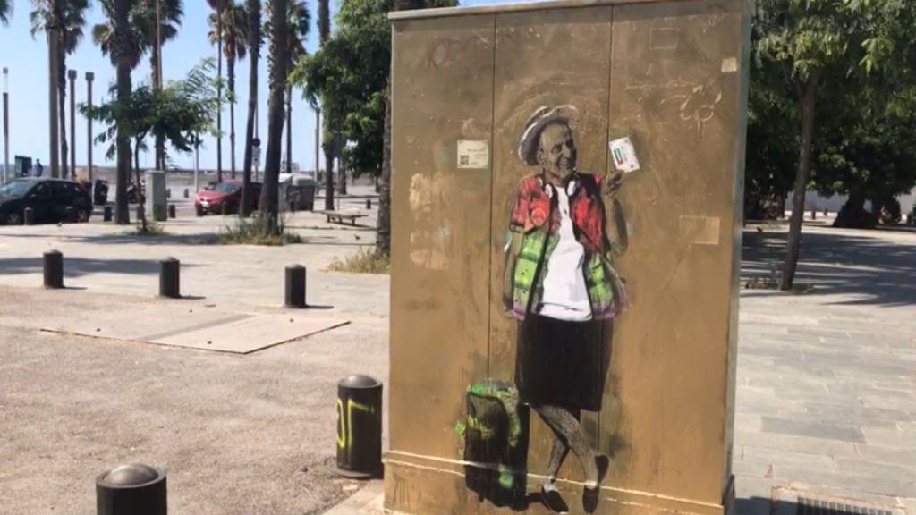 El artista callejero TVBoy ha recreado la marcha del Rey Juan Carlos